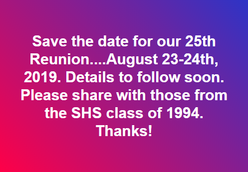 Save the Date 25th